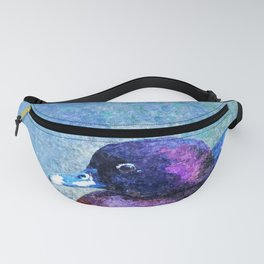 Fat Duck Portrait Painting Fanny Pack