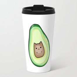 AvoCato Avocado Cat Print Travel Mug