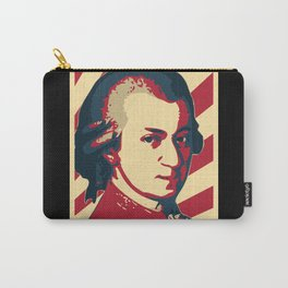 Wolfgang Amadeus Mozart Retro Propaganda Carry-All Pouch