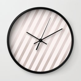 Rose Gold and Pink Diagonal Stripes Wall Clock