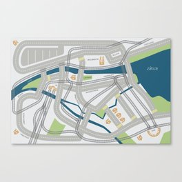 The Streets of Zurich Canvas Print
