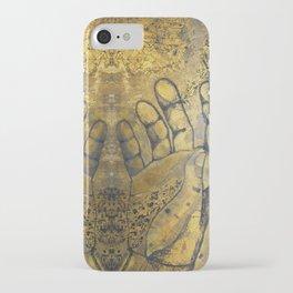 bronze hands iPhone Case