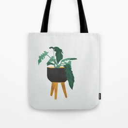 mid century modern house plant boho pot stand Tote Bag