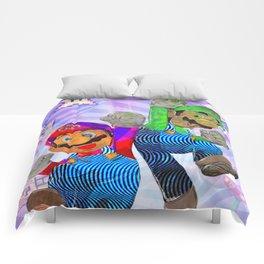 Pop Art Mario Brothers Comforters