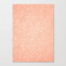 Pink Peach Retro Geometric Waltz Canvas Print