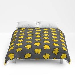 Yellow Game Meeples Comforters