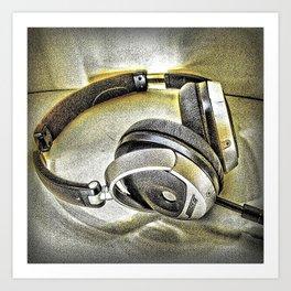 Headphones III Art Print