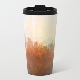 Kansas City, Missouri Skyline - In the Clouds Travel Mug