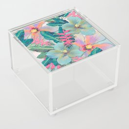 Aqua Ginger Alohas Acrylic Box
