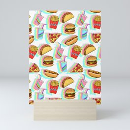 Rainbow Fast Food Mini Art Print