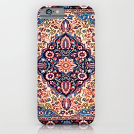 Kashan Central Persian Rug Print iPhone Case