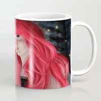 fireflies Mugs featuring Fireflies by GrazilDesign