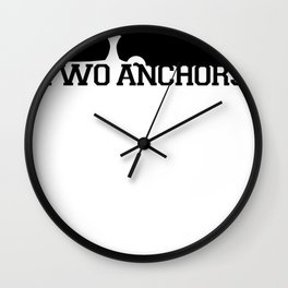 Double Anchor in Black Wall Clock
