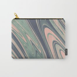 Abstract mauve blue pink turquoise marble Carry-All Pouch
