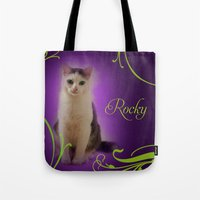 rocky Tote Bags featuring Rocky by Flavia Jurca