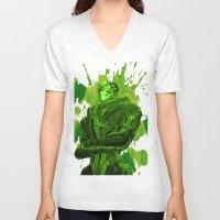 garrus V-neck T-shirts featuring GARRUS - MASS EFFECT by MarcoMellark
