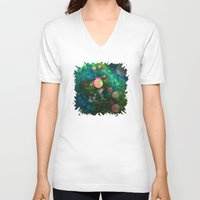psychadelic V-neck T-shirts featuring Inner Space by Lyle Hatch