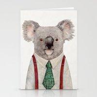 koala Stationery Cards featuring Koala by Animal Crew