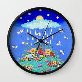 Bloom the World, Bee Happy Wall Clock