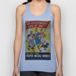 Vintage poster - Up Housewives and at'em Unisex Tank Top