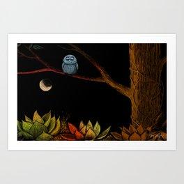 Lonely owl Art Print