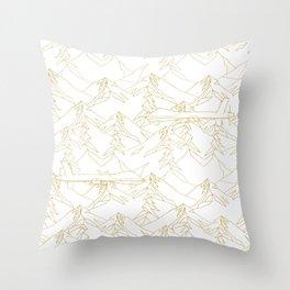 Golden Drone Throw Pillow