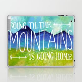 Going to the Mountains, Tetons Landscape Laptop & iPad Skin
