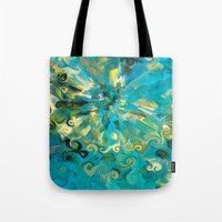 fireworks Tote Bags featuring Fireworks by Paul Kimble