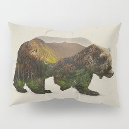 North American Brown Bear Pillow Sham