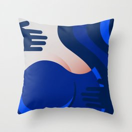 Blue Jeans 2/3 Throw Pillow