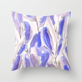Growth Violet Throw Pillow