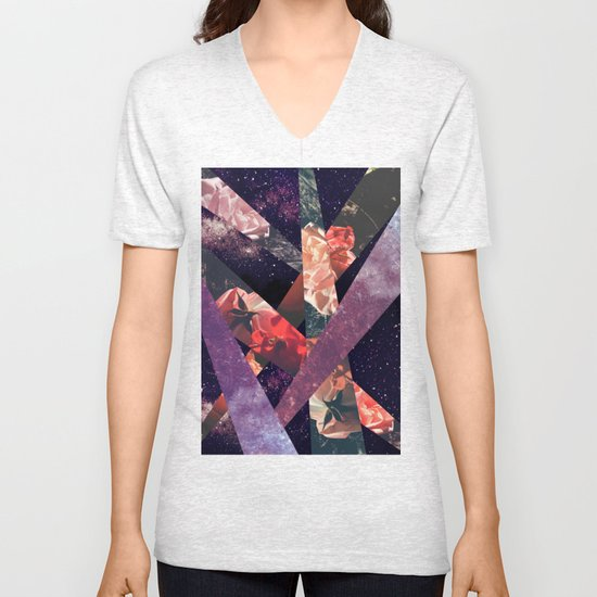 ROSES IN THE GALAXY Unisex V-Neck
