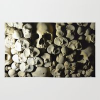 skulls Area & Throw Rugs featuring skulls by SINPE