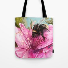 Bee on flower 17 Tote Bag
