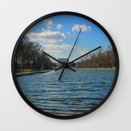 Reflecting Pool at the Lincoln Memorial Wall Clock