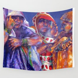 Three Cloth Sellers Wall Tapestry