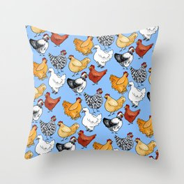 Chicken Skin Throw Pillow