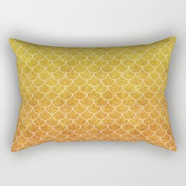 Sunset Mermaid Scales Rectangular Pillow