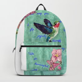The Bittersweet Nectar of the Here and Now Backpack