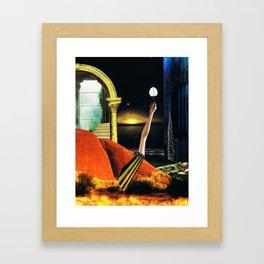 the dreamtime - collage Framed Art Print