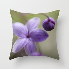 Purple Three Throw Pillow
