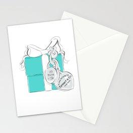 Blue Gift Box Stationery Cards