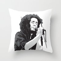 marley Throw Pillows featuring Marley Music by Mark Lucas