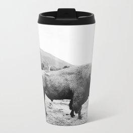 Alaska Bison Metal Travel Mug