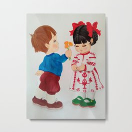 A boy and a girl Metal Print