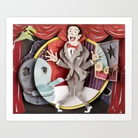 pee wee Art Prints featuring Pee-Wee by Erin Maala