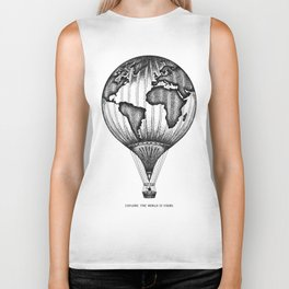 EXPLORE. THE WORLD IS YOURS. Biker Tank