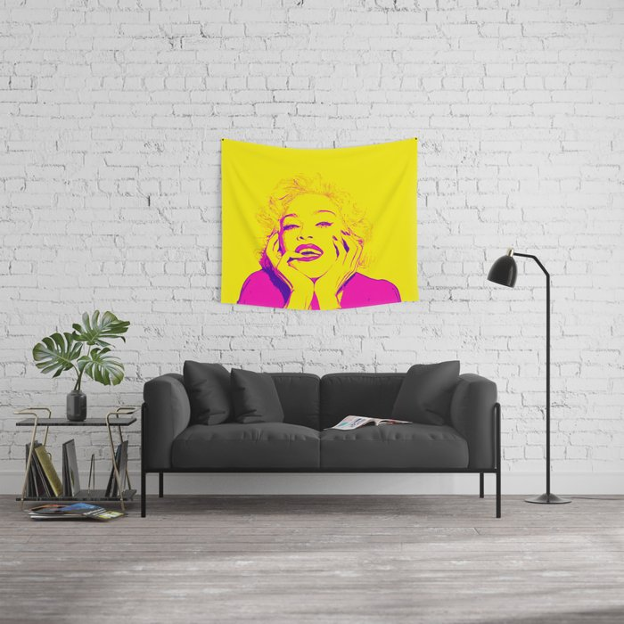 Bright Madonna Wall Tapestry