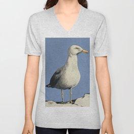Lone Gull #1 Unisex V-Neck