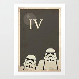 Star Wars Minimal Movie Poster Art Print